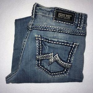 Miss Me Embroidered Boyfriend Crop Jeans 30 25